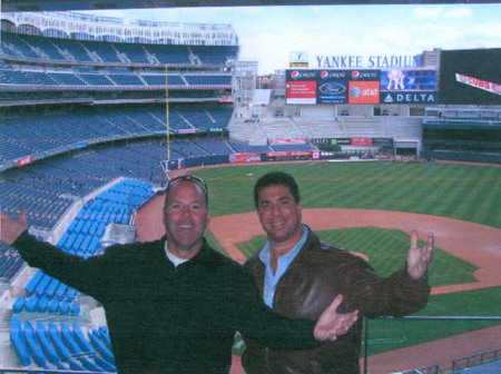 Tim on the left & Andrew on the right at The 'Perfect' Suite at Yankee Stadium